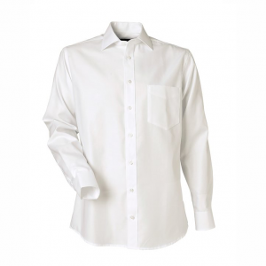 Men's Shirt, White Piqué, Regular Cut