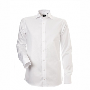 Men's Shirt, White Piqué, Slim Cut