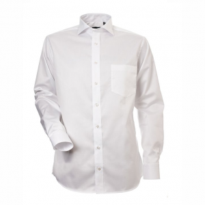Men's Shirt, White Twill, Regular Cut