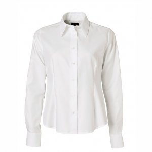 Women's Shirt, White piqué, Tailor Cut
