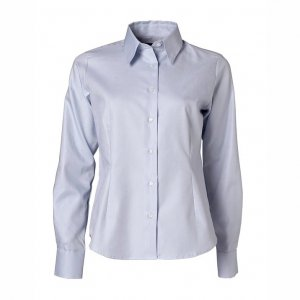 Women's Shirt, Light Blue Piqué, Tailor Cut