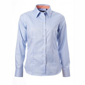 Light blue oxford with orange contrast, Tailor Cut