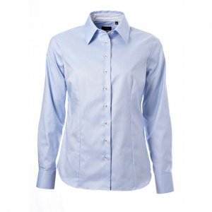 Women's Shirt, Light blue oxford with blue contrast, Tailor Cut